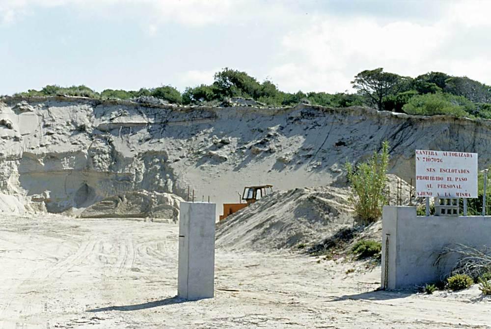 Illes Balears. Ses Clotades. Formentera. Les formacions dunars proporcionaven arena per a la regeneració de les platges eivissenques. Foto: Rosa Vallès Costa.