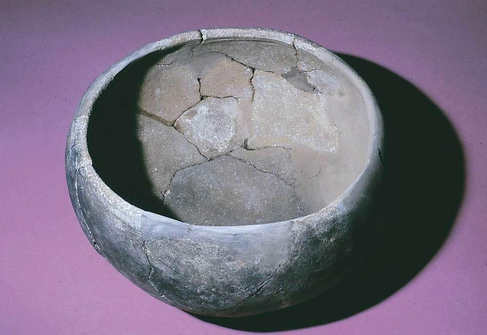 Les pallisses de Cala d´Hort. Olla baiximperial d´importació trobada a la cisterna de l´edifici A (s. V dC.). Foto: Joan Ramon Torres.
