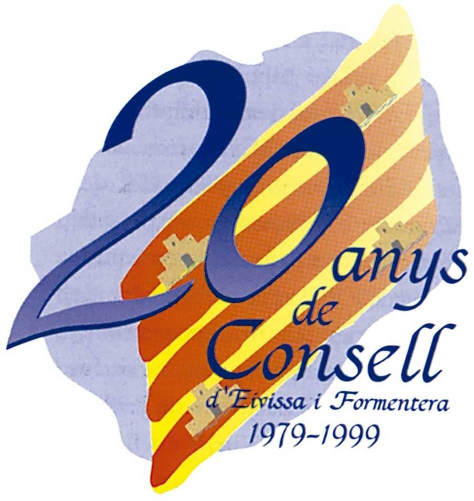 El logotip que commemora el vintè aniversari del Consell Insular d´Eivissa i Formentera.