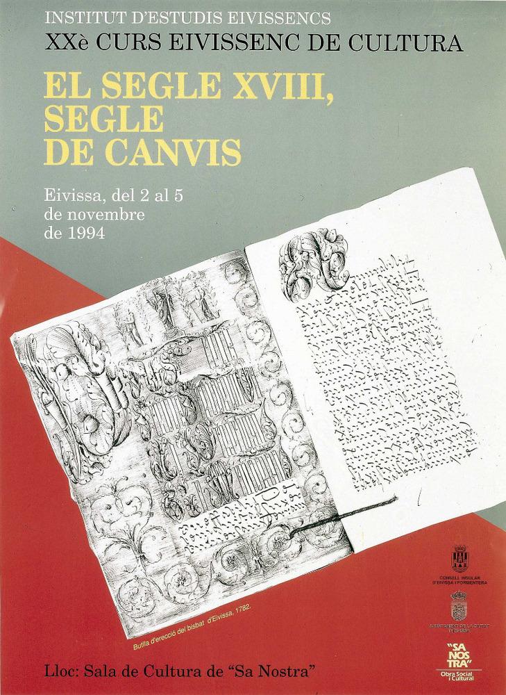 Cartell del vintè Curs Eivissenc de Cultura, disseny de Josep Marí. Cortesia de l´Institut d´Estudis Eivissencs.