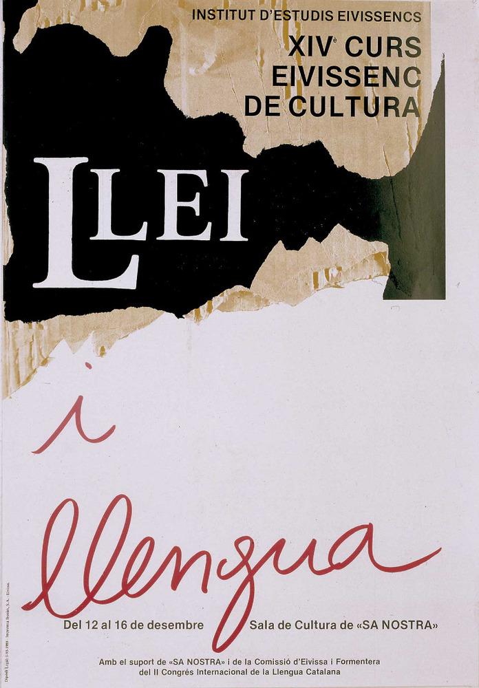 Cartell del catorzè Curs Eivissenc de Cultura, disseny de Josep Marí. Cortesia de l´Institut d´Estudis Eivissencs.