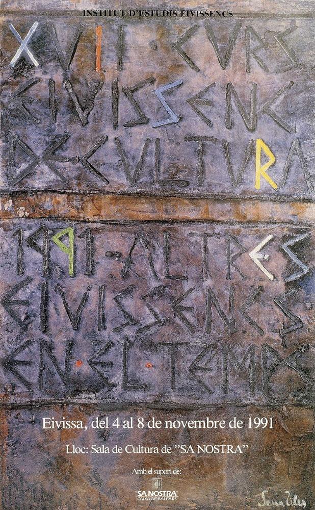 Cartell del XVII Curs Eivissenc de Cultura, obra de Fèlix Serra Ribas. Cortesia de l´Institut d´Estudis Eivissencs.
