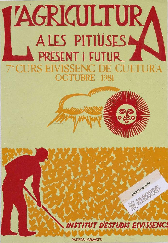 Casrtell del VII Curs Eivissenc de Cultura, disseny de Nèstor Pellicer. Cortesia de l´Institut d´Estudis Eivissencs.