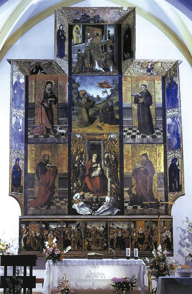 Art. Retaule de l´església de Jesús, del s. XVI i atribuït als artistes Osona. Foto: Toni Pomar.