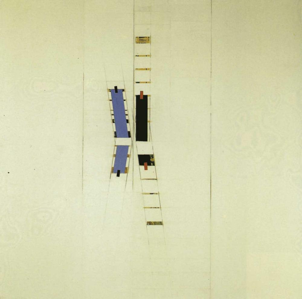 Art. Collage damunt tela de Tur Costa. Foto: Toni Pomar / col·lecció de l´autor.