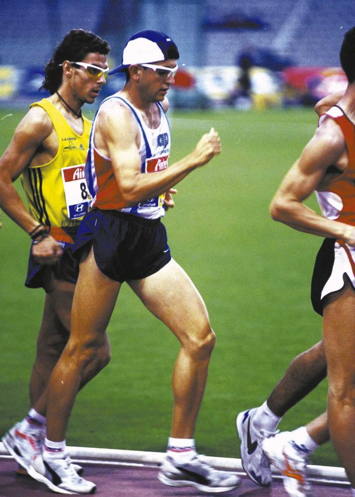 Esports. Mario Avellaneda, atleta de marxa. Foto: Roberto López.