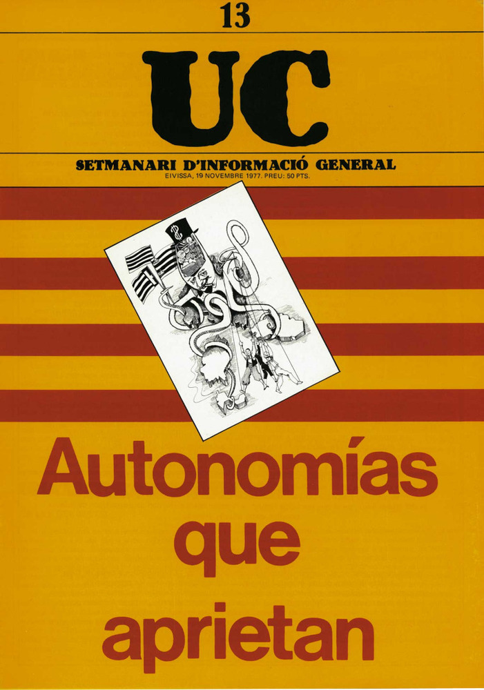 Premsa. <em>Uc</em>, setmanari publicat entre l´agost de 1977 i el mar&ccedil; de 1978.