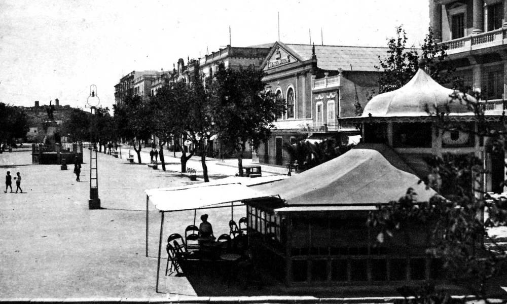 Ciutat d´Eivissa. El passeig de Vara de Rey. Foto: Viñets / Arxiu Històric Municipal d´Eivissa.