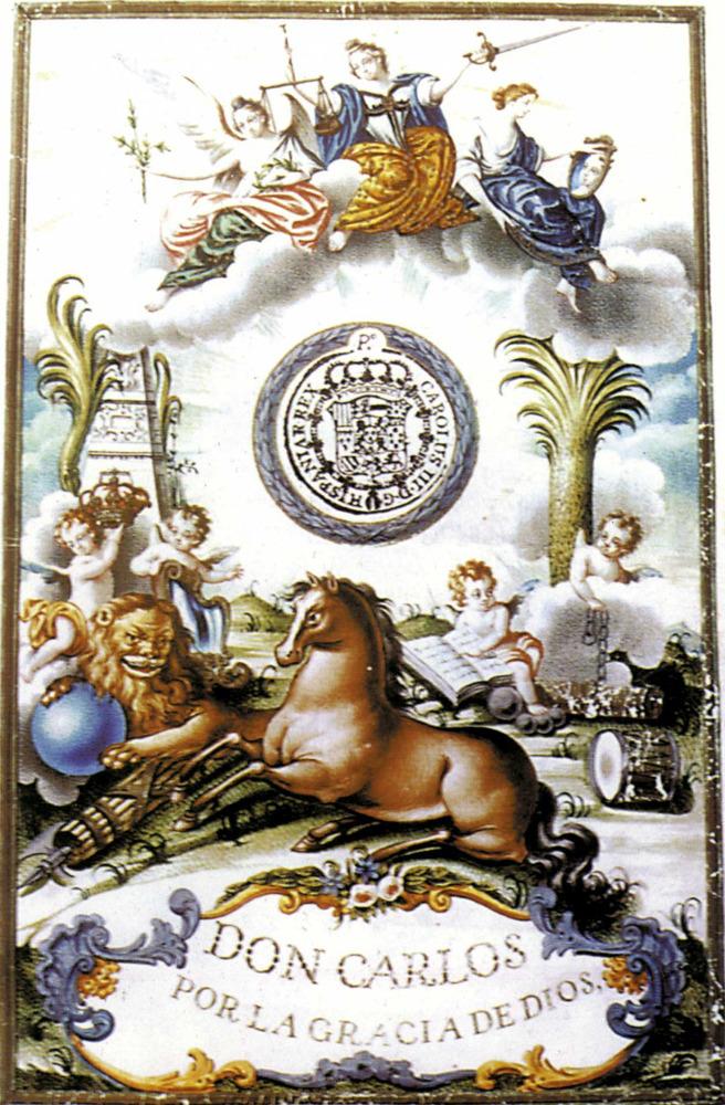 Ciutat d´Eivissa. Història i evolució urbana. Portada del títol de ciutat, concedit per Carles III el 1782, a causa de la creació del bisbat. Extret d´<em>Història d´Eivissa i Formentera </em>/ Ernest Prats Garcia.
