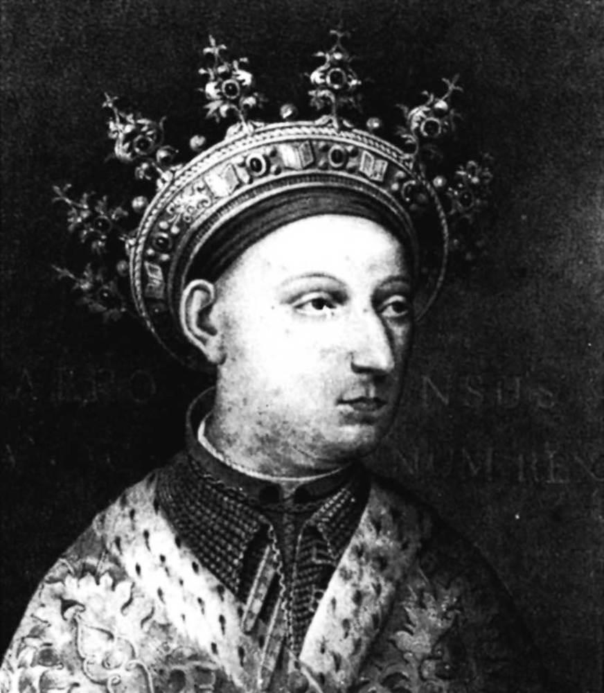 Corona d´Aragó. Alfons el Magnànim (1396-1458). Durant el seu regnat es dictà el regiment de sort i sac per a la Universitat d´Eivissa. Foto: cortesia de la <em>Gran Enciclopèdia Catalana</em>.