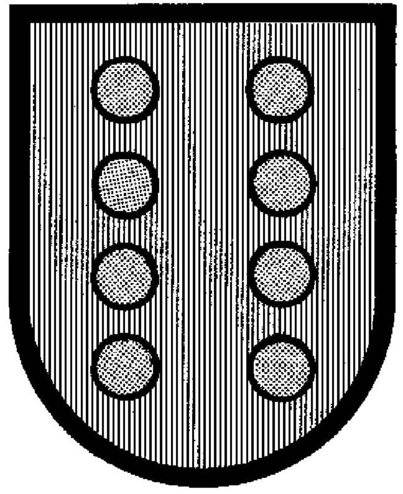 Corona d´Aragó. Escut dels Montcada, família a la que pertanyia Hug. Les seues tropes se sublevaren a Eivissa el 1518. Foto: cortesia de la <em>Gran Enciclopèdia Catalana</em>.