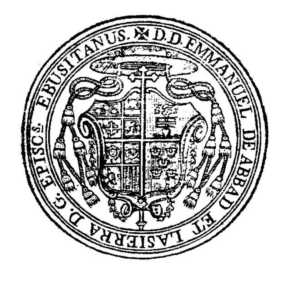 Corona d´Aragó. Segell de Manuel Abad y Lasierra, bisbe de la seu d´Eivissa (1783-1787).