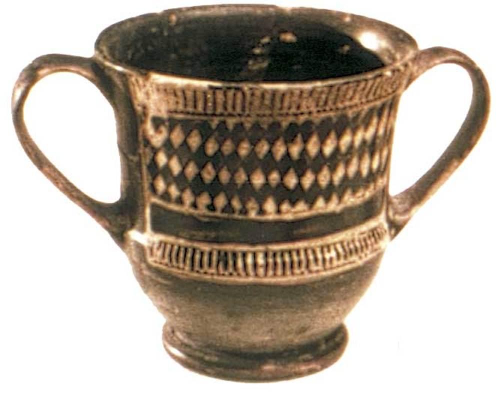 Època feniciopúnica. Vas grec de l´estil de Saint Valentin, de final del s. V aC.