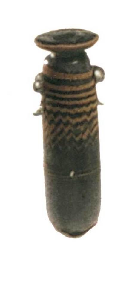 Època feniciopúnica. Alabastró de pasta vítria amb decoració policdromada; s. V aC.