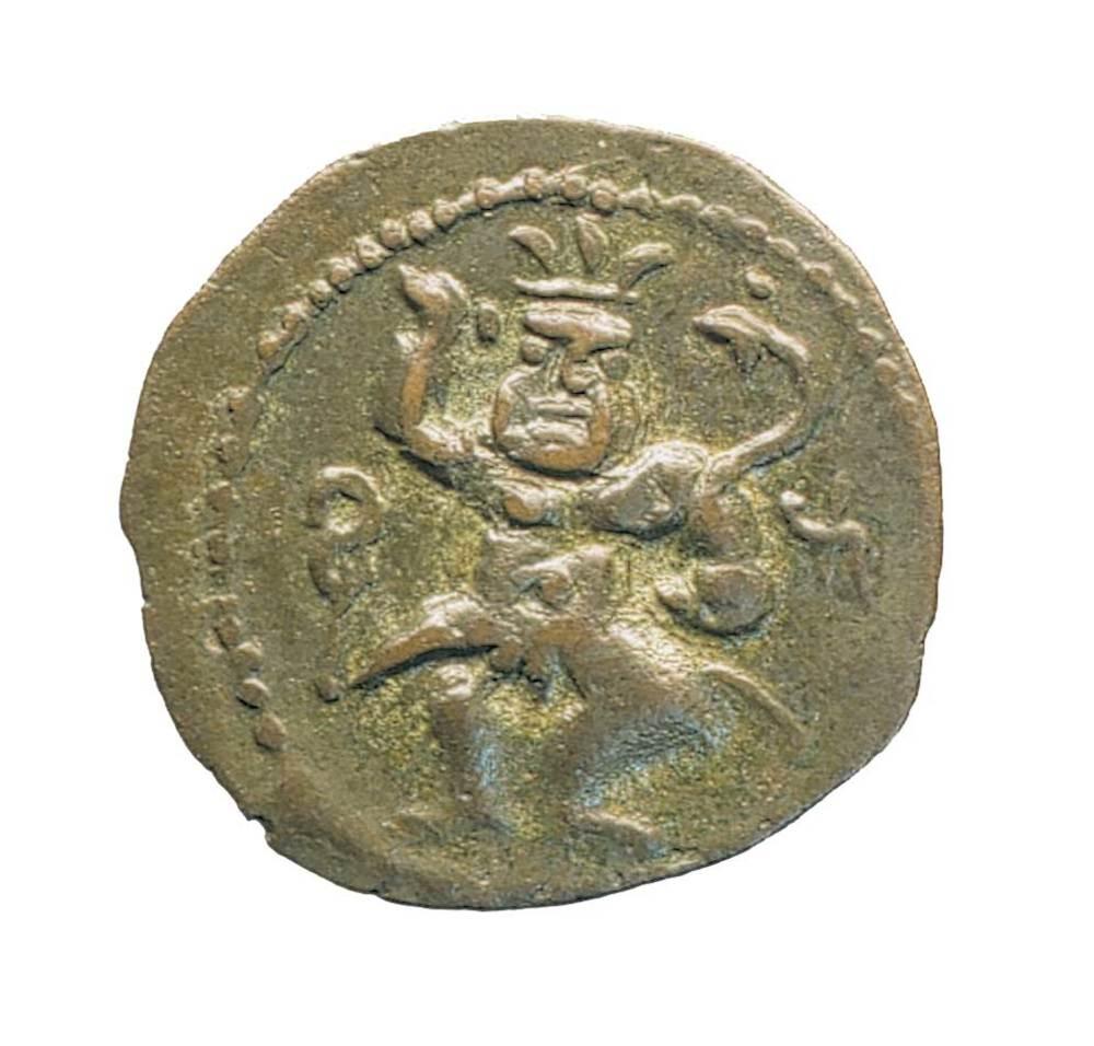 Època feniciopúnica. Moneda punicoebusitana encunyada el s. II aC. Foto: M. Campo / Museu Arqueològic d´Eivissa i Formentera.