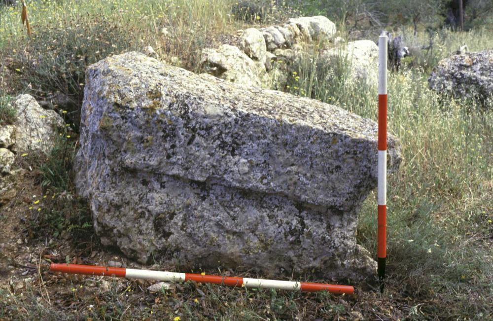 Època feniciopúnica. Un contrapès de premsa d´oli, testimoni del cultiu de l´olivera a Eivissa. Foto: cortesia del Museu Arqueològic d´Eivissa i Formentera.