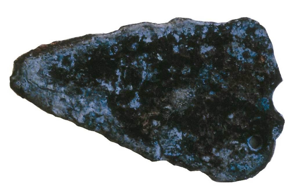 Prehistòria. Punyalet de bronze trobat a can Sergent I. Foto: cortesia del Museu Arqueològic d´Eivissa i Formentera.
