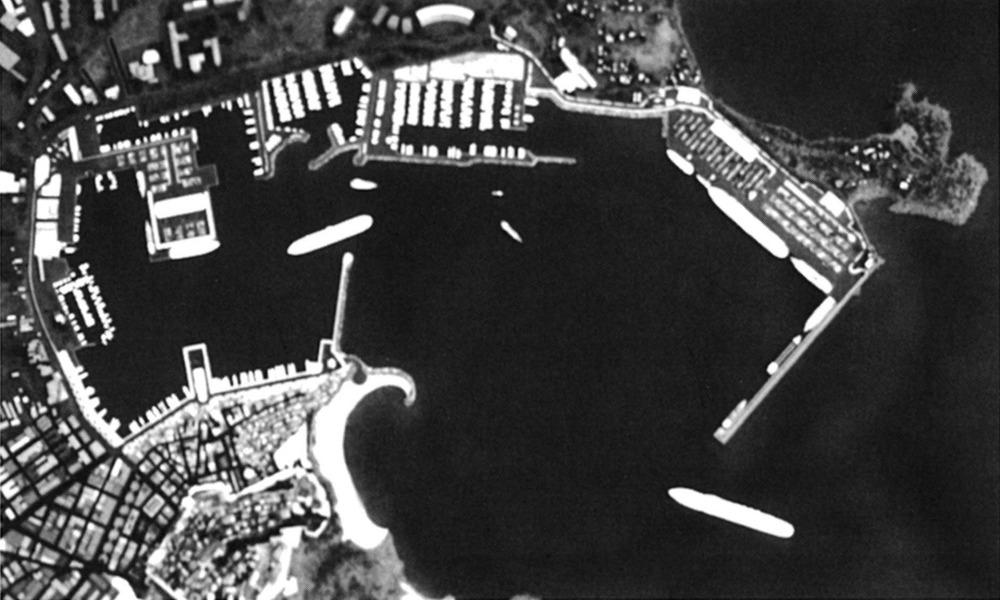 Projecte d´ampliació del port d´Eivissa amb la construcció del dic del Botafoc. Algunes de les actuacions previstes s´han vist retallades, com l´esplanada a ponent de l´illa Grossa.
