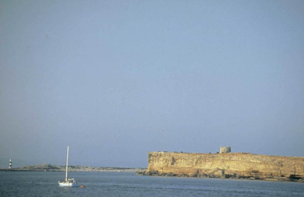 Sa Guardiola, a la costa de ponent de s´Espalmador. Foto: Studio 30.