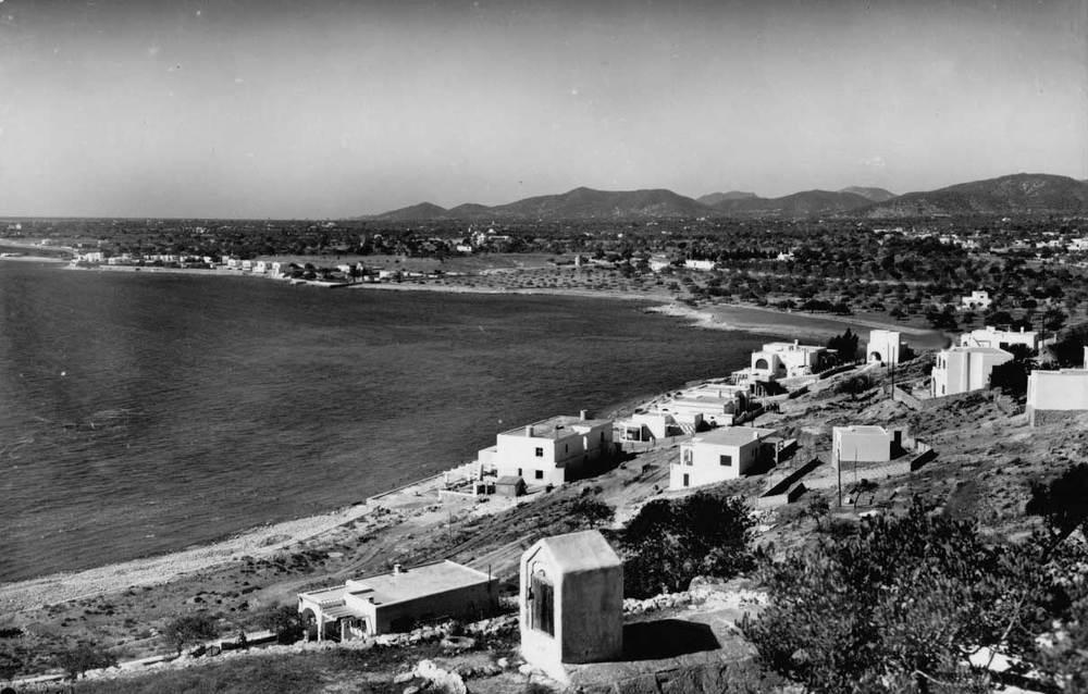 Vista antiga de la barriada de ses Figueretes. Foto: Viñets / Arxiu Històric Municipal d´Eivissa.