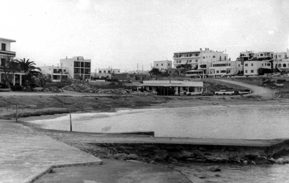 Vista antiga de la barriada de ses Figueretes. Foto: V. Domínguez / Arxiu Històric Municipal d´Eivissa.