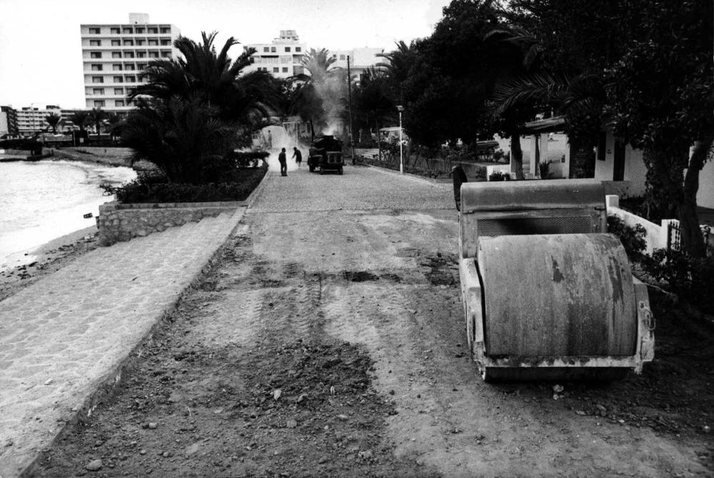 Vista antiga de la barriada de ses Figueretes. Foto: Josep Buil Mayral / Arxiu Històric Municipal d´Eivissa.