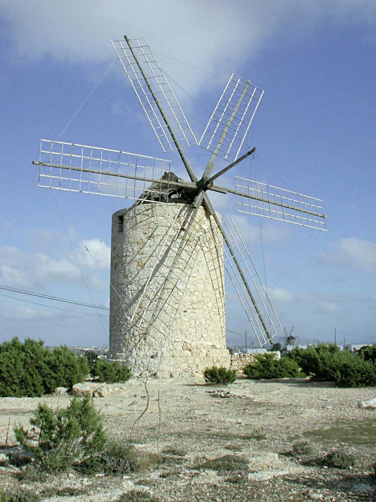 Formentera. Arquitectura. Molí fariner d´en Jeroni, situat a sa Miranda. Foto: Laura Tur Castelló.