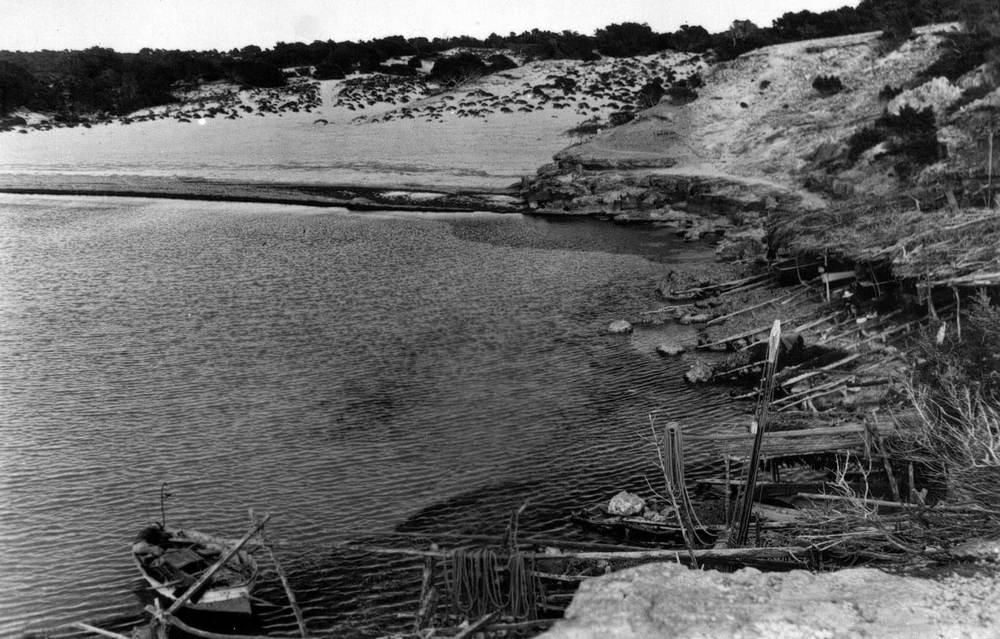 Formentera. Època baixmedieval. Cala Saona on, segons un testimoni de l´època, es criaven falcons a final del s. XIII. Foto: A. Campanyà / J. Puig Ferran.