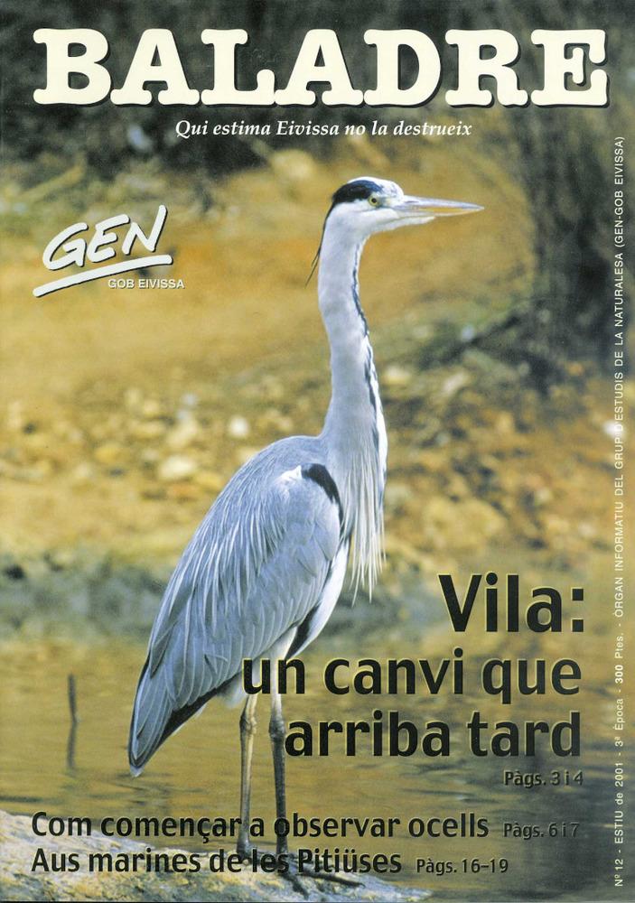 Portada de la revista <em>Baladre</em>, editada pel Grup d´Estudis de la Naturalesa.