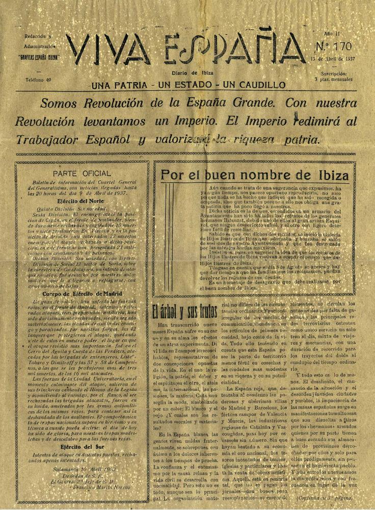 Portada de <em>Viva España</em>, publicat entre 1936 i 1939. Cortesia d´Alfons Garcia Ninet.