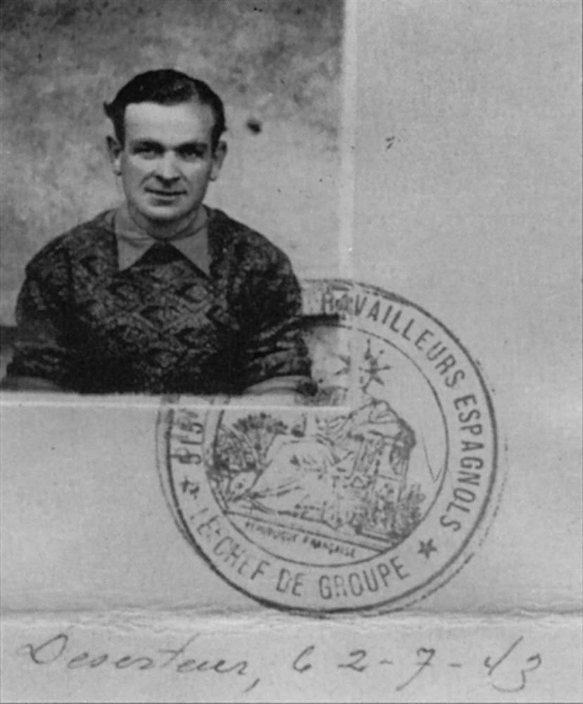 Segona Guerra Mundial. L´eivissenc i també membre de la Resistència francesa Josep Marí Juan, de Sant Carles de Peralta.