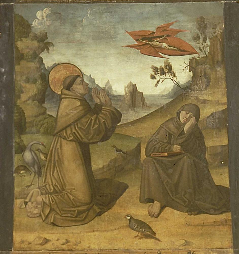 Retaule de la Mare de Déu de Jesús: l´estigmatització de sant Francesc d´Assís. Foto: Toni Pomar.