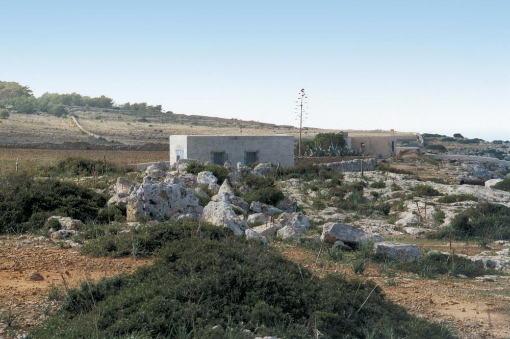 Restes arqueològiques de la murada de sa Cala. Foto: Joan Marí Escandell.