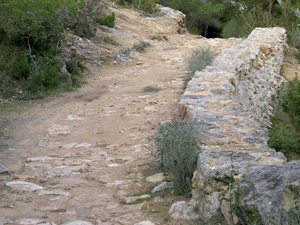 El camí de sa Pujada, el traçat del qual fou eixamplat i consolidat a través del Pla de millores de 1798. Foto: Vicent Ferrer Mayans.