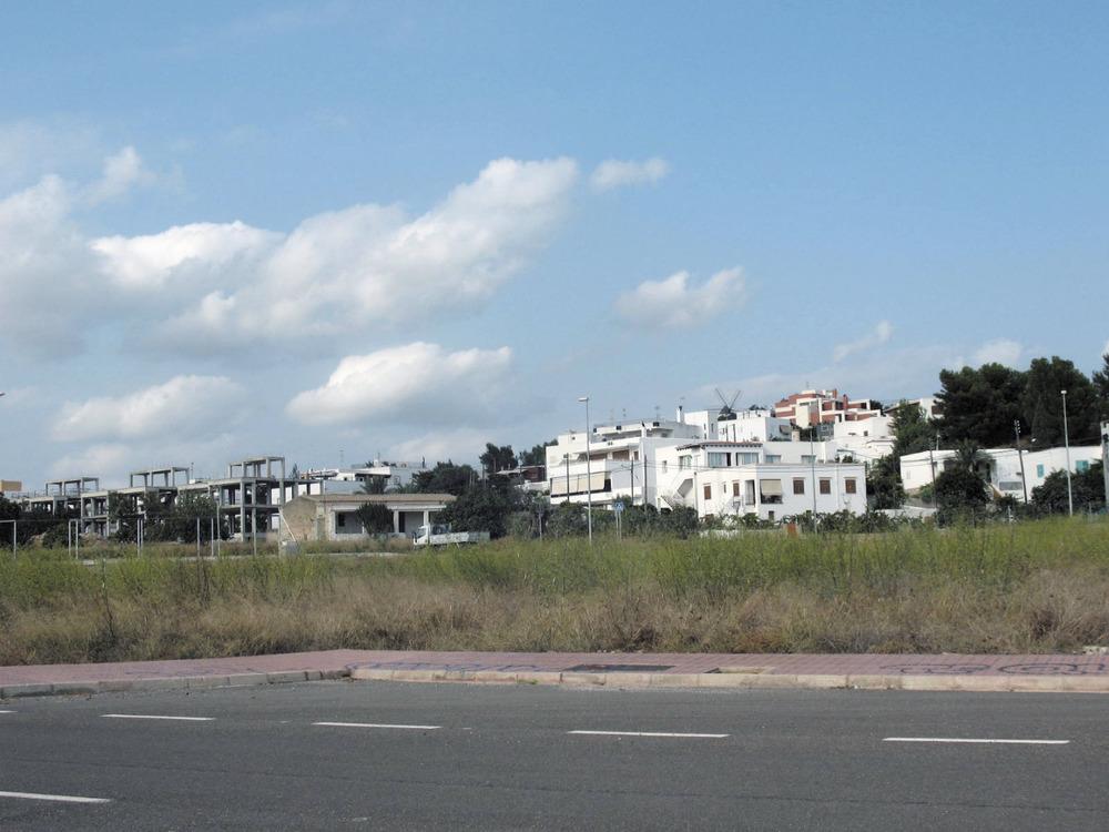 Es Puig d´en Valls. La zona de s´Olivera, en plena expansió constructiva a començament del s. XXI. Foto: Maurici Cuesta Labèrnia.