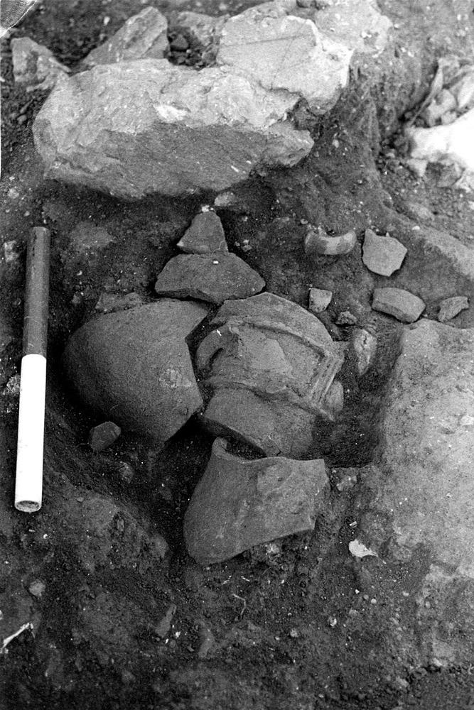 Necròpolis del Puig des Molins. Fase púnica tardana. Carrer de Lleó 10-12. Enterrament infantil. Foto: Museu Arqueològic d´Eivissa.