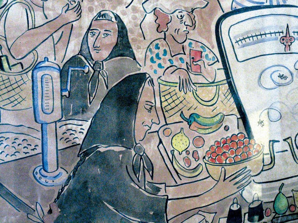 Sant Ferran de ses Roques. Detall d´una obra de l´artista danès Ging.