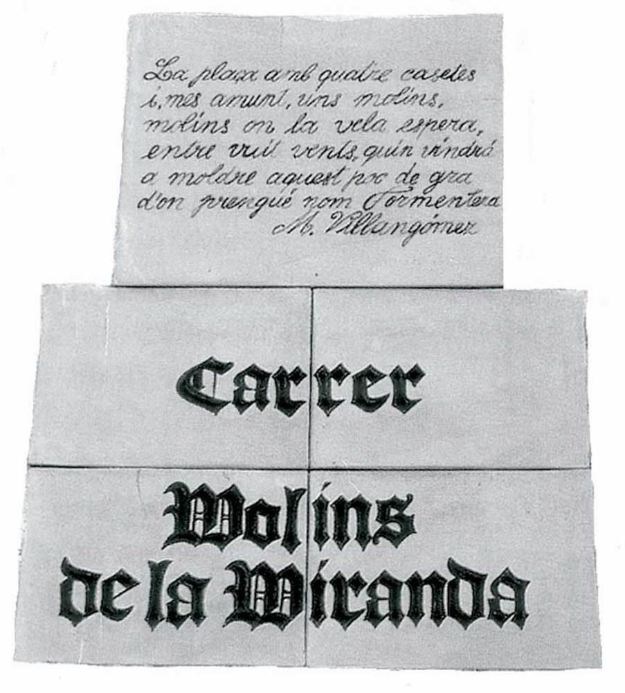 Sant Francesc Xavier. Placa amb un poema de Marià Villangómez al carrer Molins de la Miranda. Foto: Vicent Ferrer Mayans.