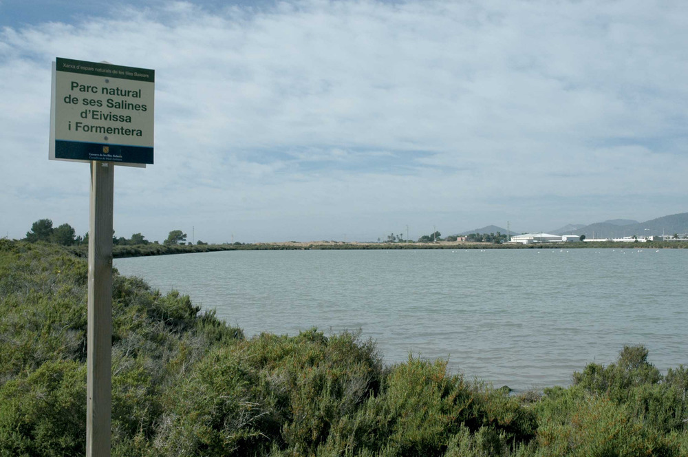 Sant Jordi de ses Salines. Els estanys de sa Sal Rossa, que no s´arribaren a explotar. Foto: Chus Adamuz.