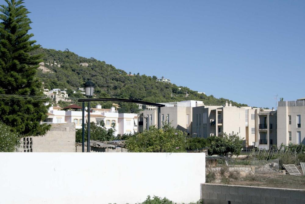 Municipi de Santa Eulària des Riu. El poble de Jesús, on es pot apreciar el creixement d´aquest nucli urbà. Foto: EEiF.