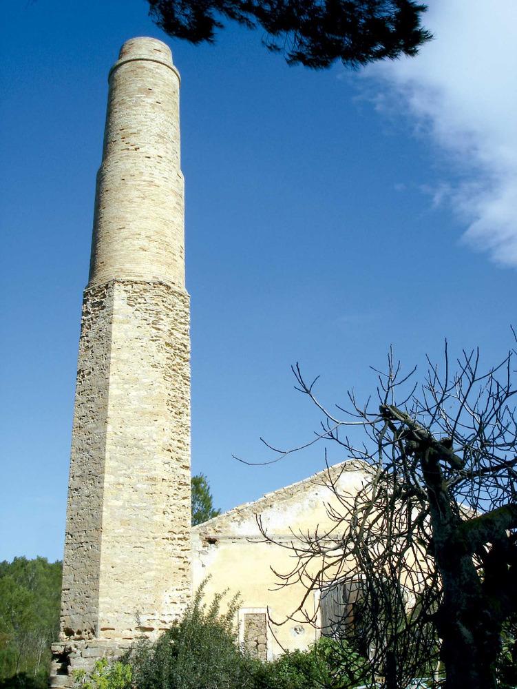 Municipi de Santa Eulària des Riu. Restes industrials de l´explotaciò de mines de galena argentífera a s´Argentera, Sant Carles de Peralta. Foto: EEiF.