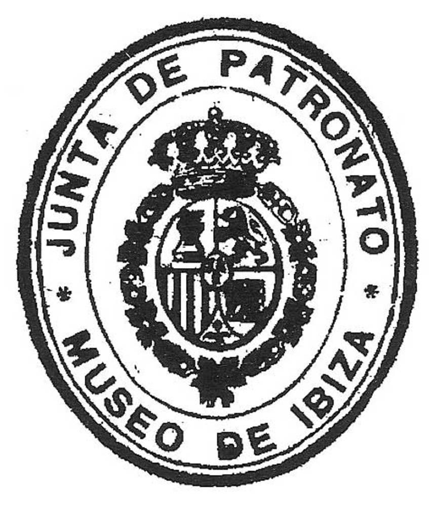 Segell de la Junta del Patronat del Museu Arqueològic, aprovat el 1910.