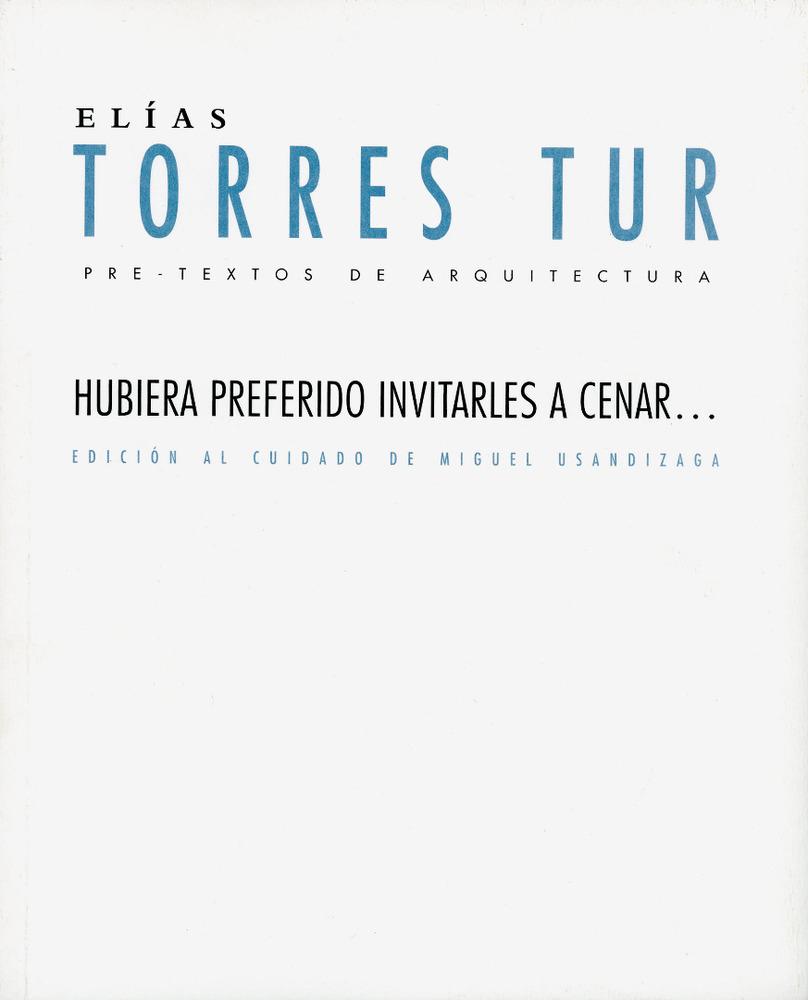 Portada d´un llibre de textos arquitectònics d´Elies Torres Tur.