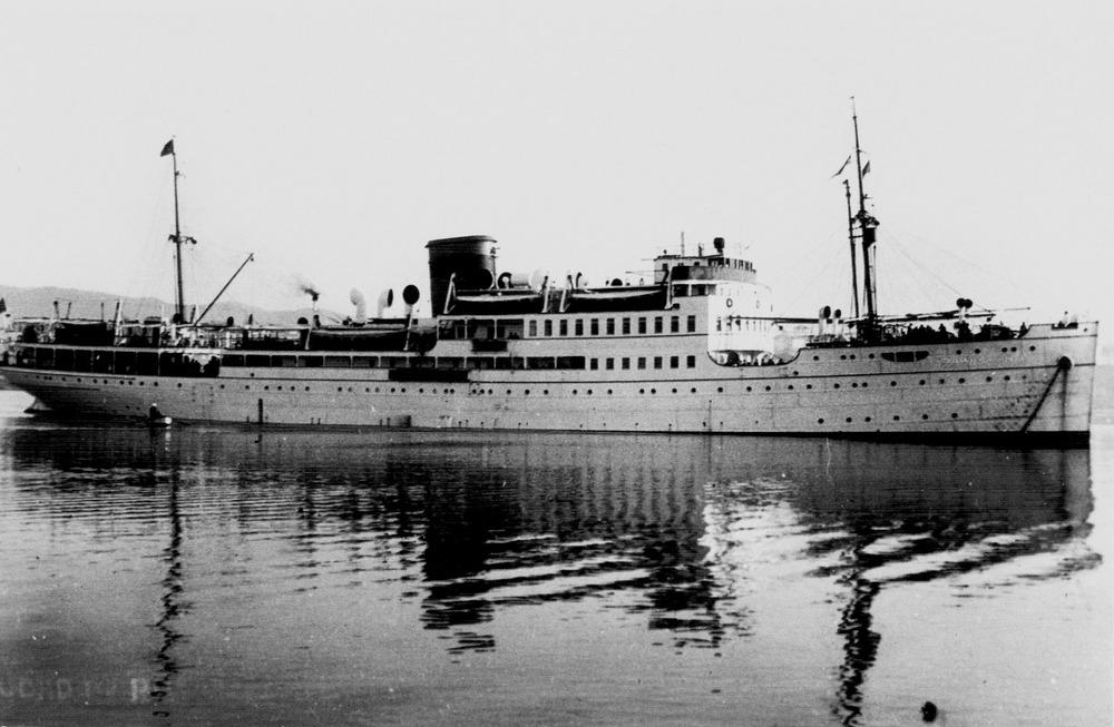 El vaixell <em>Ciudad de Palma</em>, de la companyia Trasmediterránea. Foto: Museu Marítim de Barcelona.