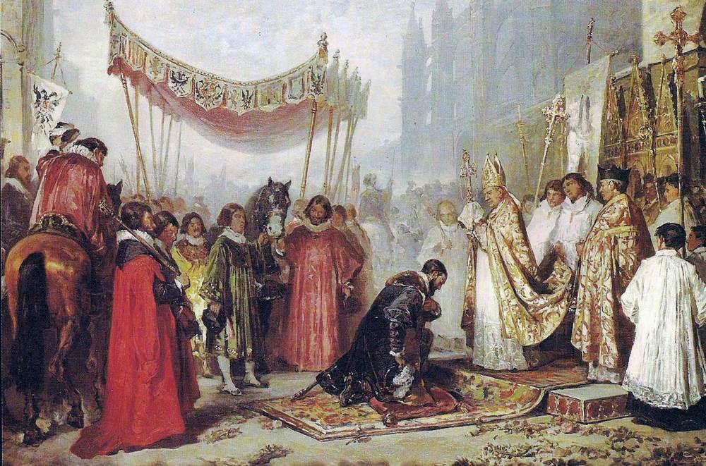 El rei Carles, al qual la Universitat d´Eivissa es va mantenir fidel durant l´aixecament de les germanies.