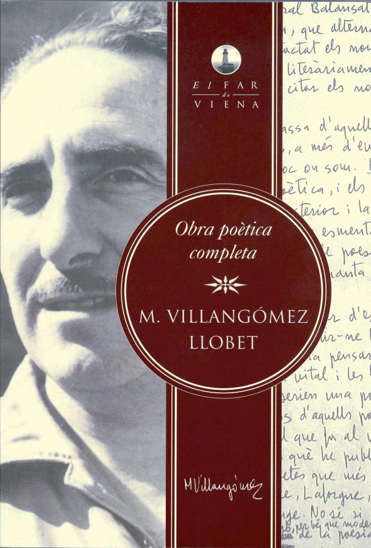 Marià Villangómez Llobet. Portada de l' Obra poètica completa, reeditada el 2013.