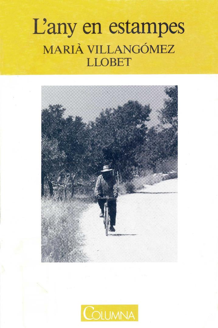 Marià Villangómez Llobet. Portada de l´Any en estampes, llibre de prosa poètica sobre Sant Miquel de Balansat.
