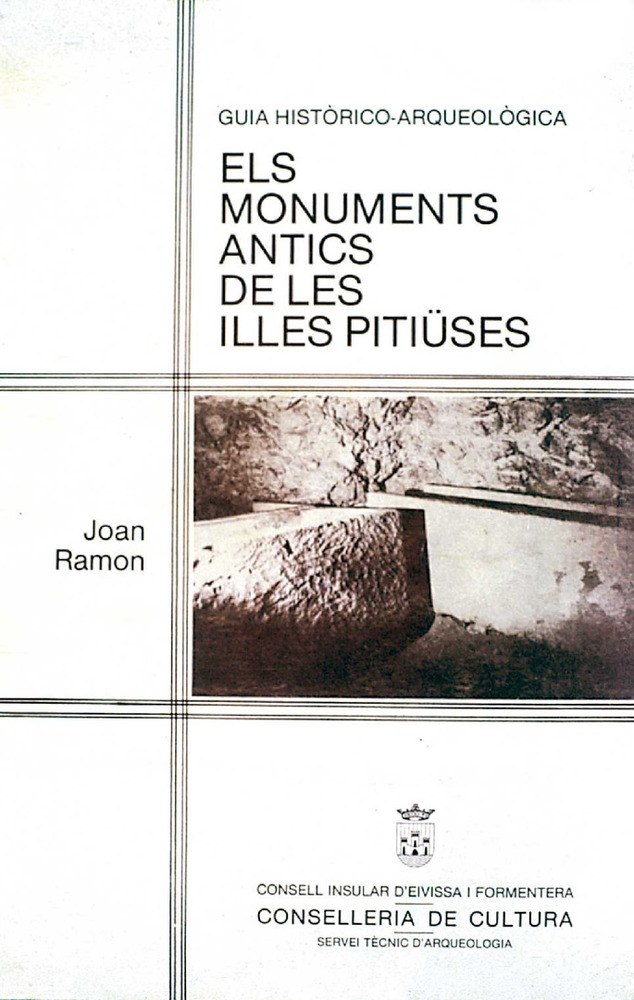 Arqueologia. Portada del llibre <em>Els monuments antics de les illes Piti&uuml;ses</em>, de Joan Ramon.