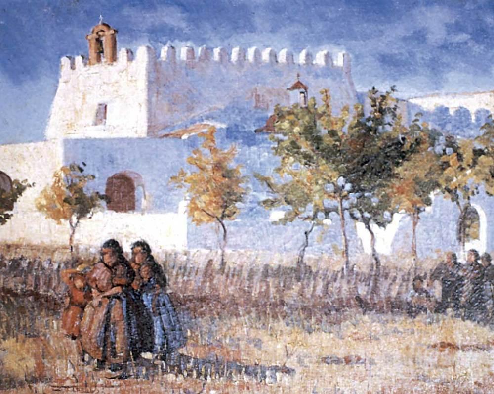 Arquitectura. Església de Sant Jordi, 1932. Quadre de Josep Tarrés. Oli sobre tela, 54 x 65 cm.