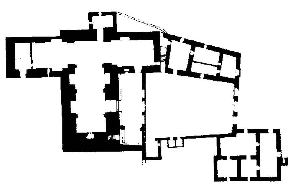 Arquitectura. Planta de l´esgl&eacute;sia de Sant Miquel de Balansat. Extret de <em>Gu&iacute;a de Arquitectura de Ibiza y Formentera</em>.